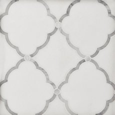 Eden Thassos Mother of Pearl Waterjet Mosaic