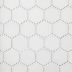 Thassos 2 in. Hexagon Polished Marble Mosaic