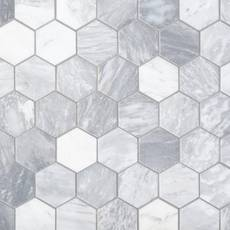 Solco White 2 in. Hexagon Polished Marble Mosaic