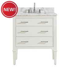 New! Arlington 31 in. Vanity with Carrara Marble Top