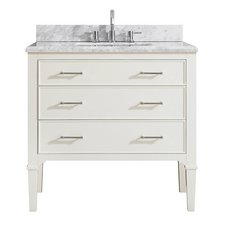 Arlington 37 in. Vanity with Carrara Marble Top