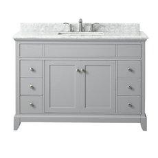 Aurora 49 in. Vanity with Carrara Marble Top