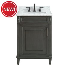 New! Sterling 25 in. Vanity with Carrara Marble Top