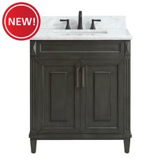 New! Sterling 31 in. Vanity with Carrara Marble Top