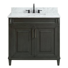 Sterling 37 in. Vanity with Carrara Marble Top