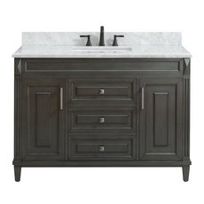 Sterling 49 in. Vanity with Carrara Marble Top