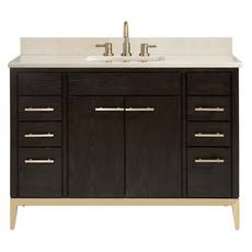 Hepburn 49 in. Vanity with Crema Marfil Marble Top