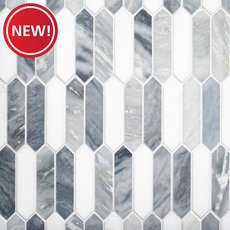 New! Dove Gray Picket Polished Marble Mosaic