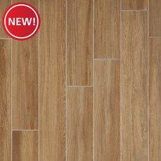 New! Santiago Ambar Wood Plank Ceramic Tile