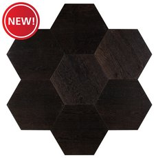 New! Midtown Dark Oak Wire-Brushed Hexagon Engineered Hardwood
