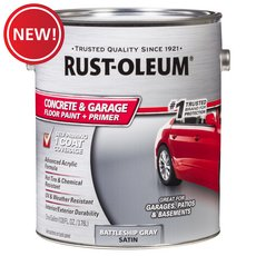 New! Rust-Oleum Concrete and Garage Battleship Gray Floor Paint Plus Primer