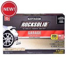 New! Rust-Oleum Rocksolid Mocha 2-1/2 Car Garage Floor Coating Kit