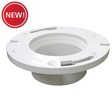 New! Jones Stephens 3in. x 4in. Plumbfit PVC Closet Flange With Knockout