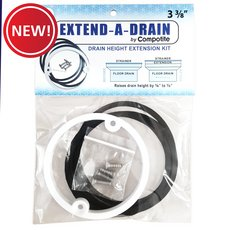 New! Compotite Extend-A-Drain 3-3/8 Drain Height Extension Kit