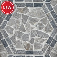 New! Lanai Hexagon Tumbled Pebble Mosaic