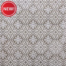New! Equilibrio Gray IV Encaustic Cement Tile