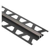Schluter Dilex-Bwb Movement Joint 1/4in. PVC Dark Anthracite