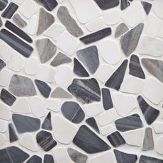 Paradiso Dolomite Honed Pebble Mosaic