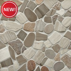 New! Mojave Tumbled Pebble Mosaic