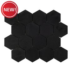 New! Basalt 3 in. Hexagon Mosaic