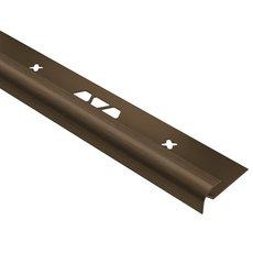 Schluter Vinpro-RO Bullnose 1/4in. Aluminum Brush Bronze