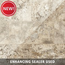 New! Argento II Honed Travertine Tile