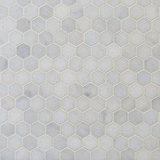 Chateau 1 in. Hexagon Honed Carrara Marble Mosaic