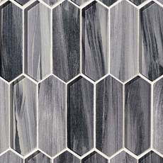 Twilight Picket Glass Mosaic