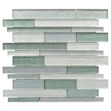 Verde Mist Linear Glass Mosaic