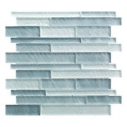 Cielo Mist Linear Glass Mosaic