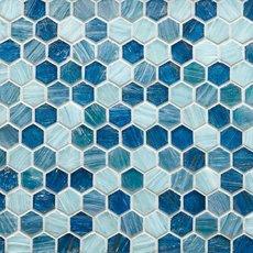 Capri 1 in. Hexagon Glass Mosaic