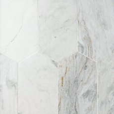 Bianco Orion Oblong Marble Tile