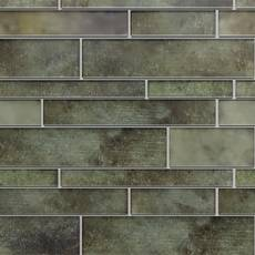 Industrial Linear Glass Mosaic