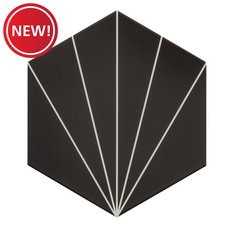 New! Kavala Black Matte Porcelain Tile