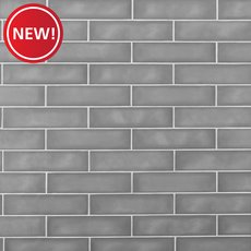 New! La Belle Nimbus Fog Polished Ceramic Tile
