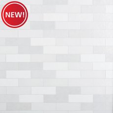 New! Zellige Pearl Opal Polished Ceramic Tile
