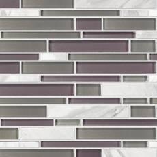 Violetta Volakas Marble Linear Glass Mosaic