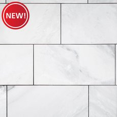 New! Mountain White II Polished Marble Tile