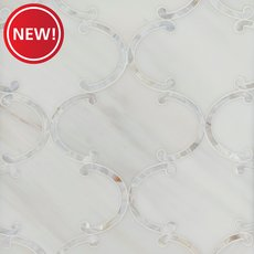 New! Aphrodite II Dolomite Mother of Pearl Waterjet Marble Mosaic