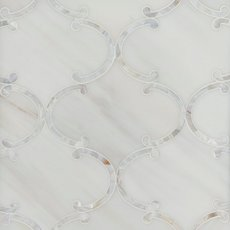 Aphrodite II Dolomite Mother of Pearl Waterjet Marble Mosaic