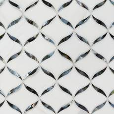 Calla Tahitian II Mother of Pearl Waterjet Mosaic