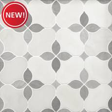 New! Iris Gris II Polished Marble Mosaic