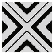 Haus Black White Porcelain Tile