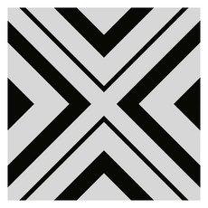 Haus Black White Porcelain Tile
