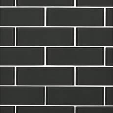 Shadow II 2 x 6 in. Brick Glass Mosaic