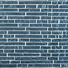 Dream Vesper Blue Linear Glass Mosaic