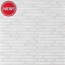 New! Snow II Linear Glass Mosaic