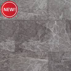 New! Stone Grey Marble Rigid Core Luxury Vinyl Tile - Foam Back