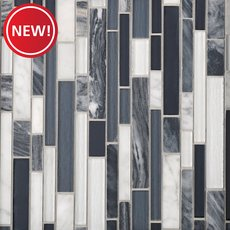 New! Nightfall Linear Glass Mosaic