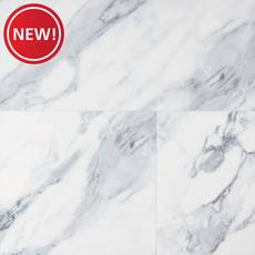 New! Firenze Polished Marble Rigid Core Luxury Vinyl Tile - Cork Back